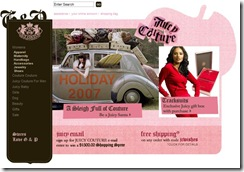 Juicy Couture Website Screenshot