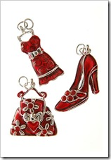 Red Rhinestone Fashion Charm